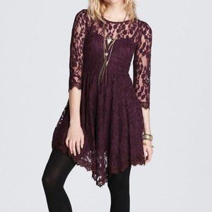 Free People Floral Mesh Fit & Flare Dress Size 4